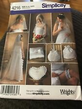 SIMPLICITY 4216 BRIDAL ACCESSORIES /& CAPELET in 3 Sizes