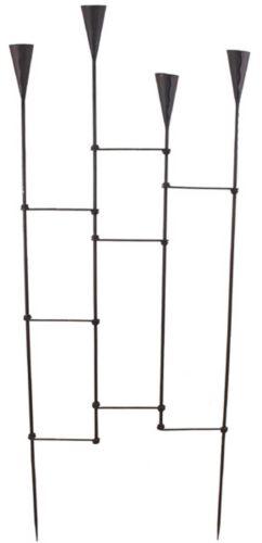 Rankgitter mit Kerzenhalter Metall Höhe 121 cm Rankhilfe Zierzaun Dekostecker
