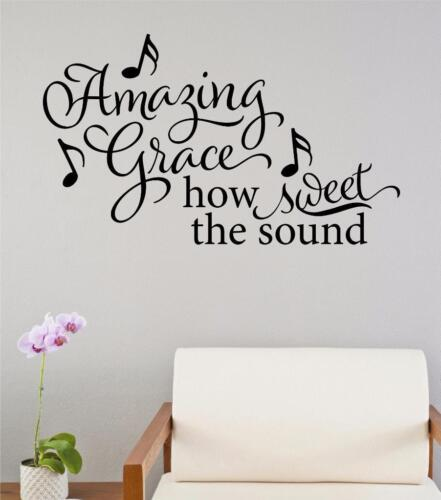 Amazing Grace How Sweet The Sound Vinyl Decal Wall Sticker Word Religious Decor