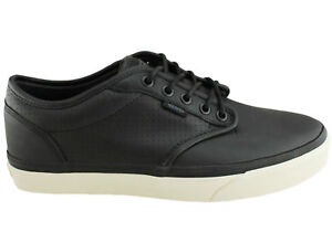 ed3e768b59 Vans Atwood (Perf) Black Antique Leather Casual Men s 7 Women s 8.5 ...