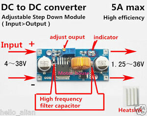 5a dc dc 5v 36v to 3 3v 6v 9v 12v 24v buck step down converter rh ebay com 36v wiring diagram Simple Wiring Diagrams