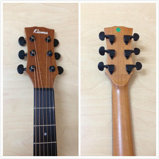 Klema K100DC Solid Cedro superior, superior, superior, D-Forma Guitarra Acústica, Mate Natural + bolsa Gig Bag GRATIS  la red entera más baja