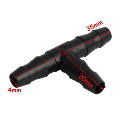 50pcs 4mm//7mm T-Form Schlauch Rohr Passend Schreiner Tropfen für Bewässerung