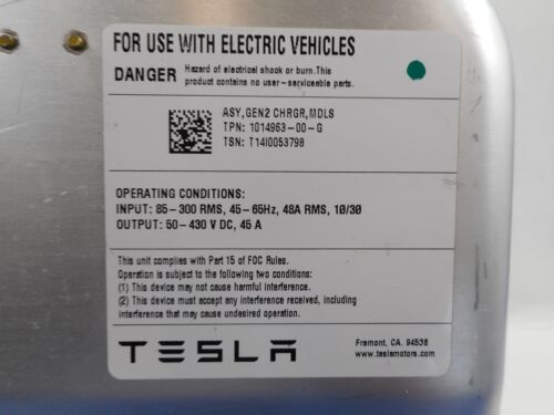 OEM GEN 2 Sealed Slave Charger Part# 1014963-00-G 2012-2016 Tesla Model S