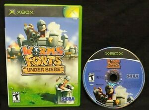Worms-Forts-Under-Siege-Microsoft-Xbox-OG-Game-Rare-Tested