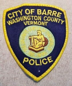 VT City of Barre Vermont Police Patch | eBay