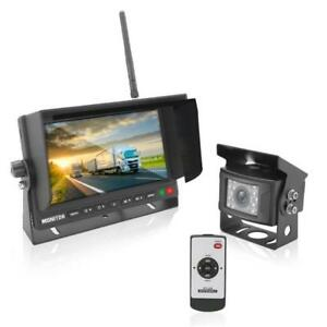 New-Wireless-Weatherproof-Backup-Camera-amp-7-034-Monitor-for-Bus-Truck-Trailer-Van