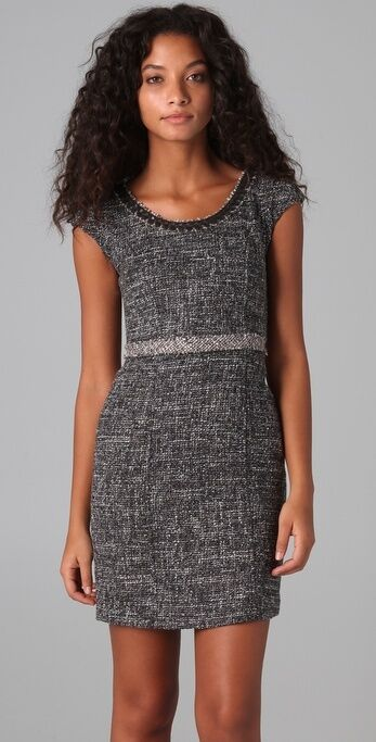 Rebecca Taylor Grey Tweed Dress sz US 6