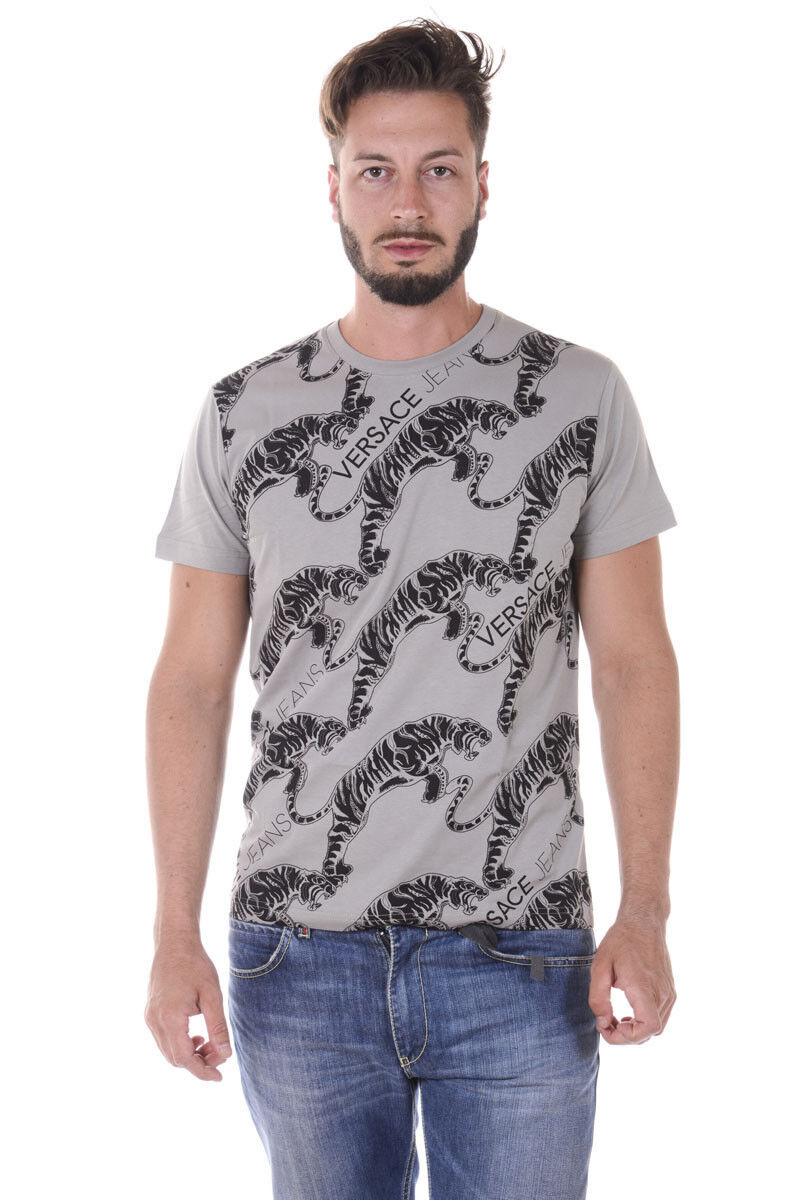 T hemd Maglietta Versace Jeans schweißhemd REGULAR herren grau B3GQA708 837
