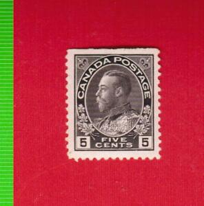 1922  # 112  VFH  KING GEORGE V  ADMIRAL ISSUE  - CANADA  STAMPS  FV20