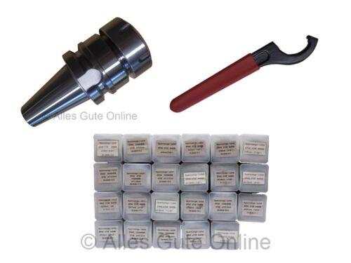 Spannfutter BT//MAS SK40 M16 ER40 23x Spannzangen Schlüssel H