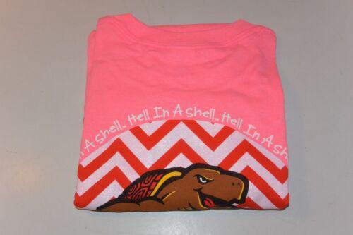 "Gildan NCAA NWT Maryland Terrapins /""Hell in a Shell/"" Women/'s Tee Shirt Pink SZ L"
