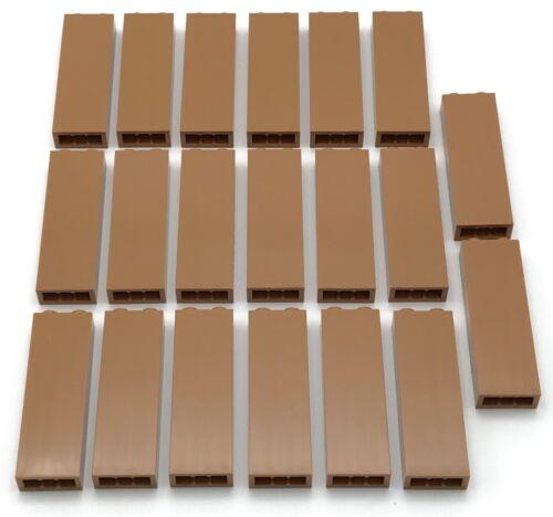 Lego 20 New Medium Nougat Bricks 1 x 2 x 5 Blocked Open Studs or Hollow Studs