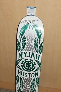 SKATEBOARD LEGEND NYJAH HUSTON SIGNED ELEMENT PRO DECK BECKETT COA SKATEBOARDER
