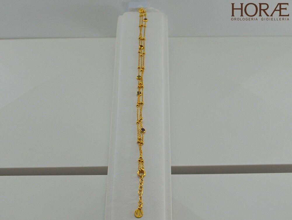Bracciale donna Nomination Nomination Nomination Bella 142625 012 argentoo oro giallo dorato Swarovski 399eed