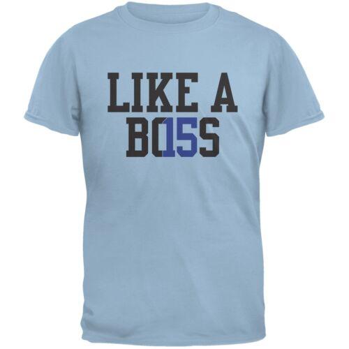 Graduation Like A Boss 2015  Light Blue Adult T-Shirt