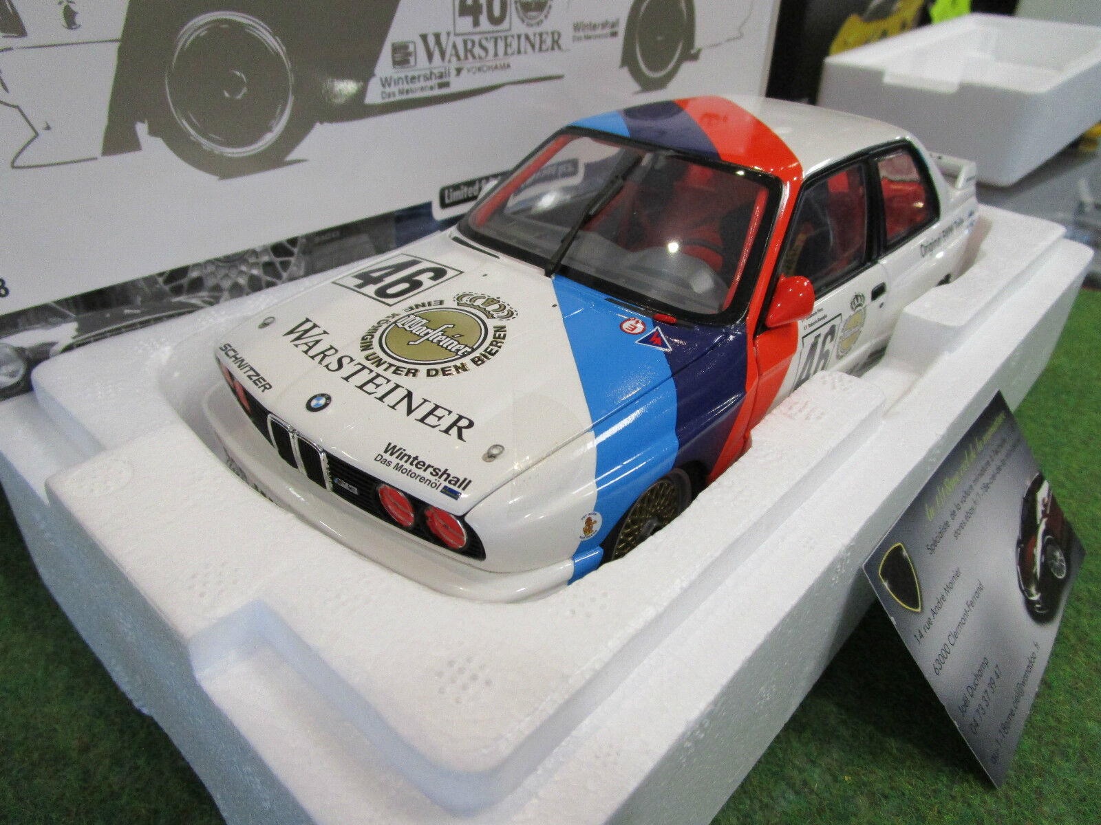 BMW M3 Class Winner CALDER WTC 1987 RAVAGLIA echelle 1 18 d MINICHAMPS 180872046