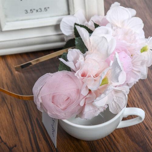 Mariage Fleur Couronne Serre-tête Bandeau Floral Guirlande fête de mariage couronne