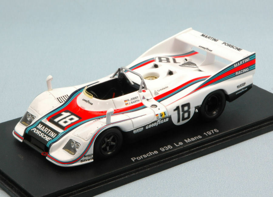 Porsche  936  18 Retirouge LM 1976 R. Joest J. Barth 1 43 model spark model  connotation de luxe discret