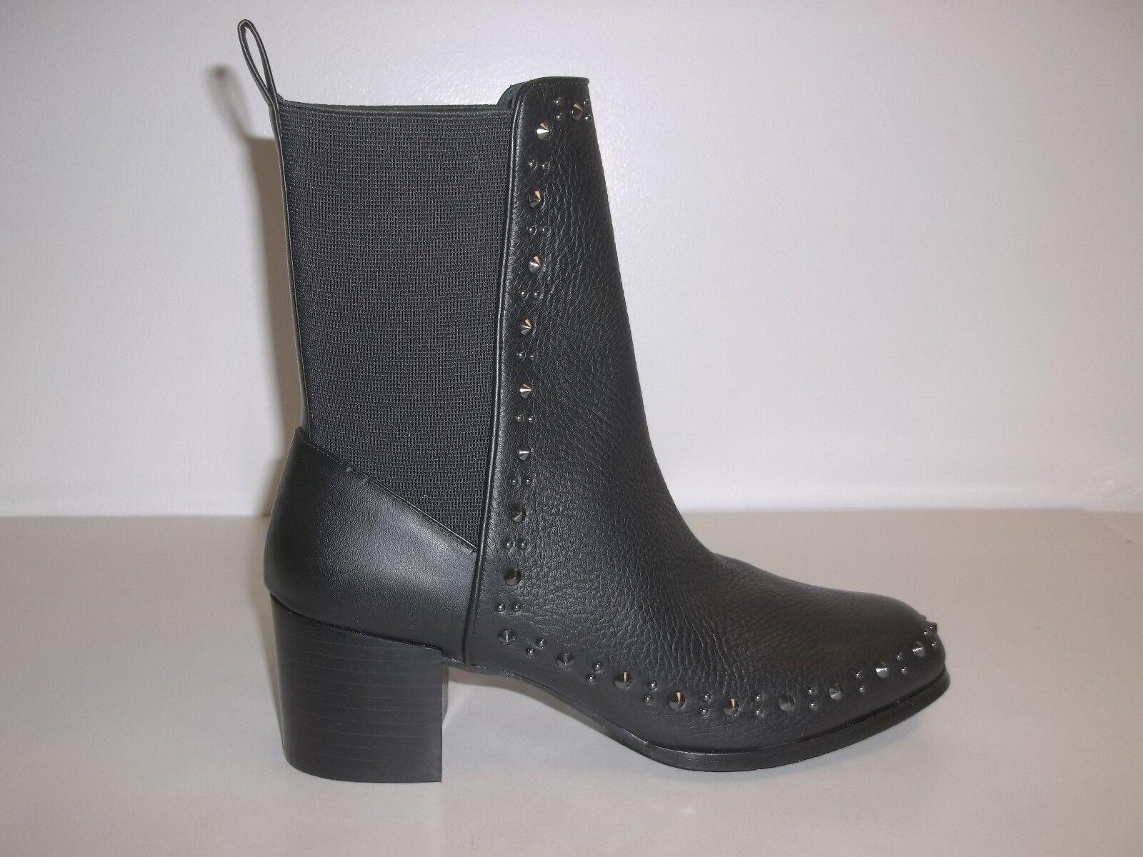 Adrianna Papell Papell Papell tamaño 9.5 M Bennett Cuero Negro botas Mitad de Pantorrilla Nuevos Mujer Zapatos  Centro comercial profesional integrado en línea.