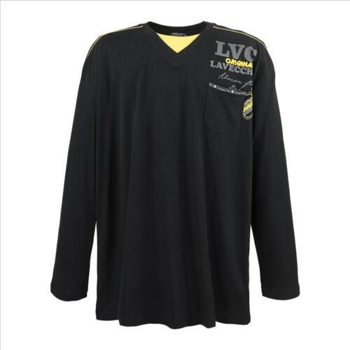 Herren Übergröße 2in1 Shirt Sweatshirt Langarm 3XL 4XL 5XL 6XL 7XL 3858