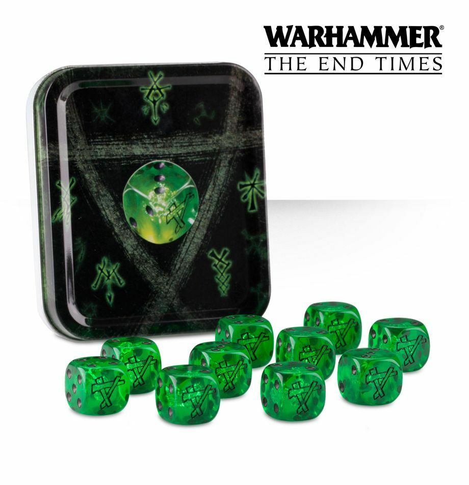 Warhammer Fantasy AoS Age of Sigmar Skaven Warpstone Dice Tin New Sealed OOP NIB