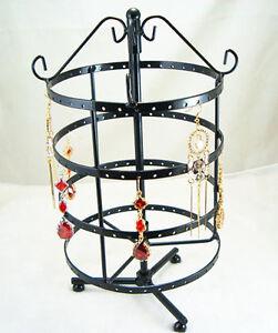 Black-Jewelry-Holder-Display-Rack-For-Earrings-72-Pair