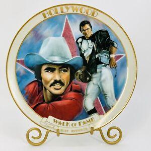 Burt Reynolds Hollywood Walk Of Fame Collector Plate