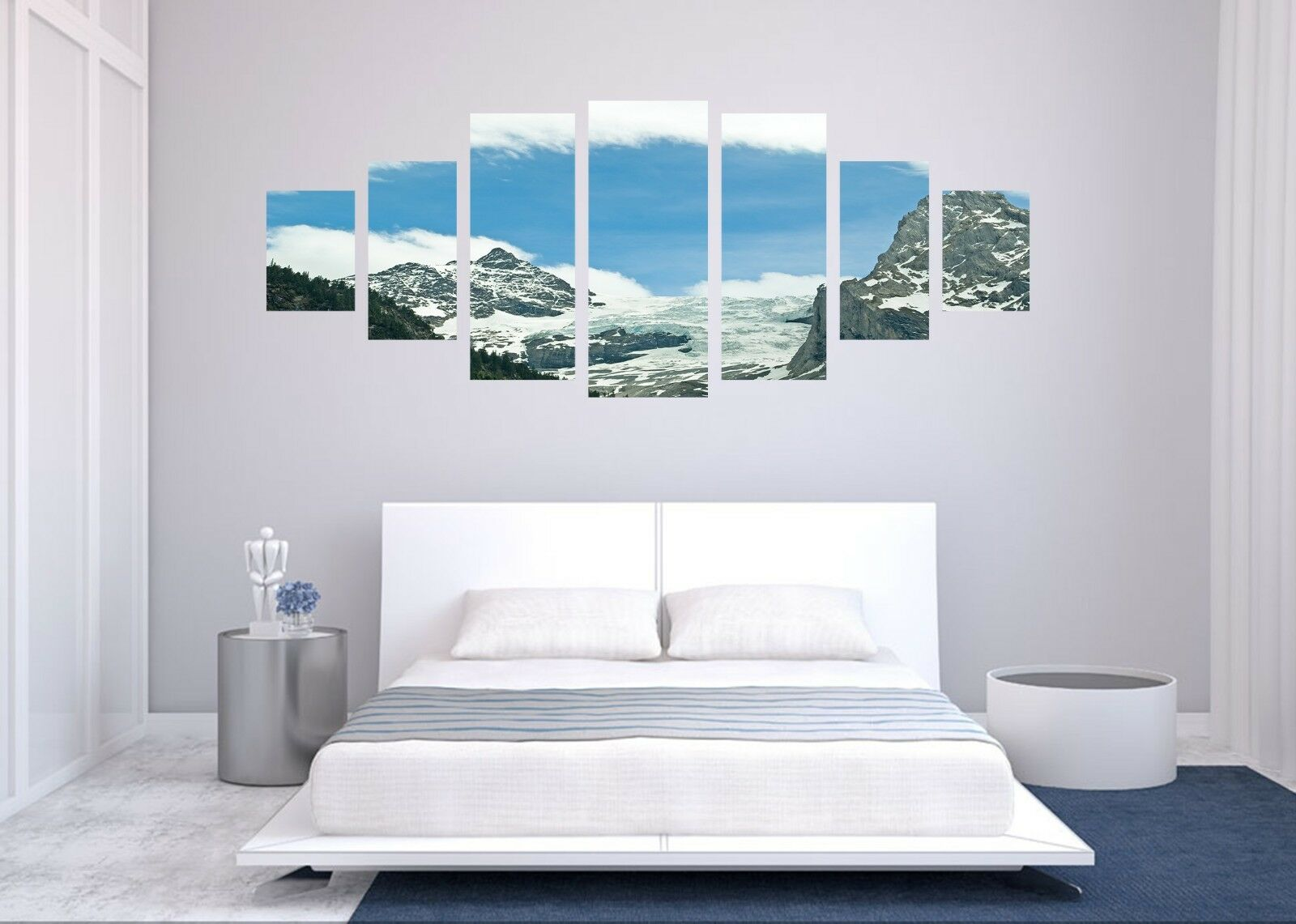 3D Mountain Peak 72 Unframed Print Wall Paper Decal Wall Deco Indoor AJ Jenny