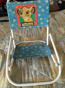Vintage-Disney-Lion-King-folding-Childs-Beach-chair-RARE