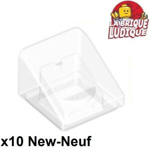 Lego 10x Trans Clear Slope 30 1 x 1 x 2//3 NEW