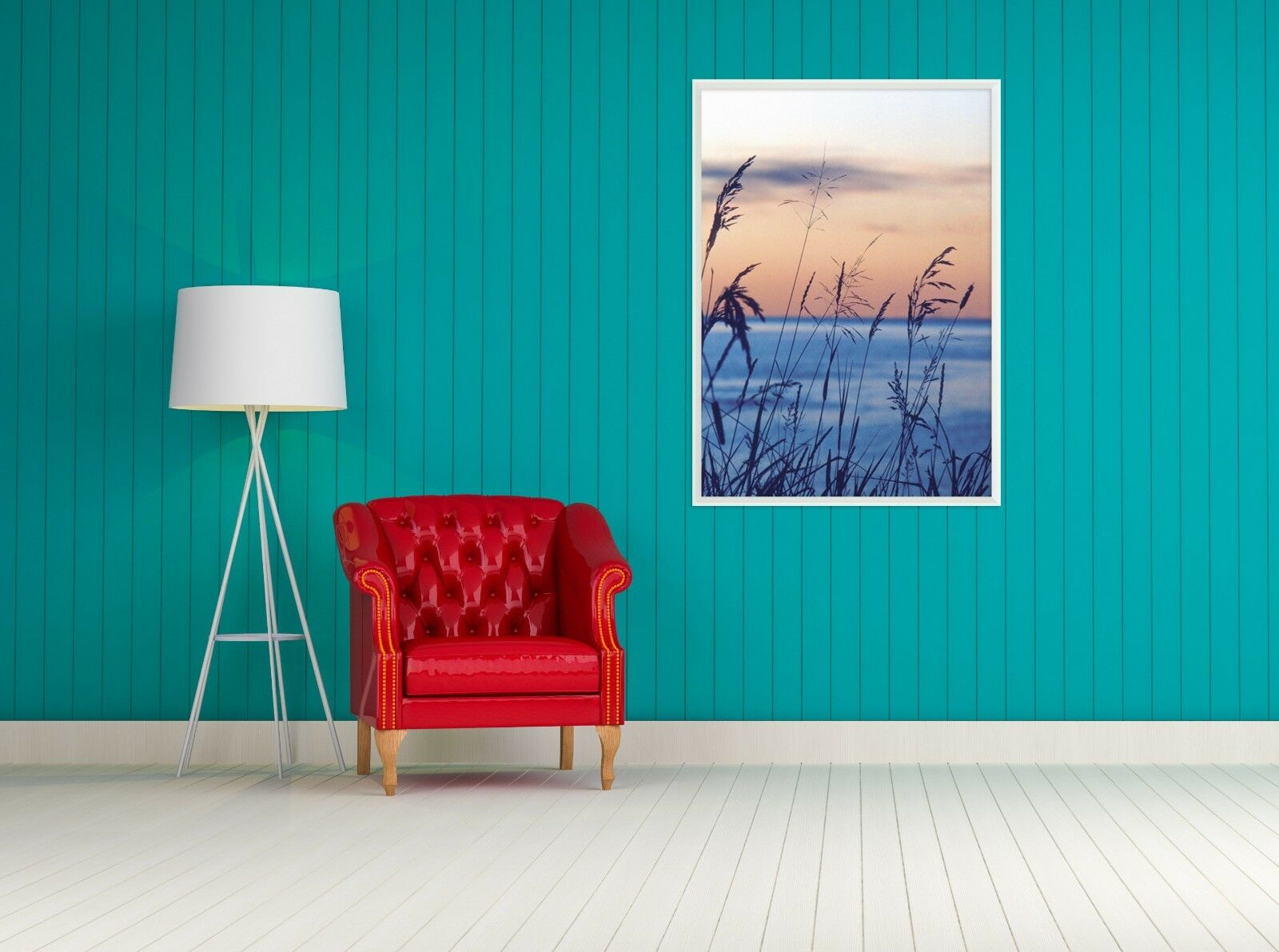 3D Reed Coastal 687 Fake Framed Poster Home Decor Print Painting Unique Art