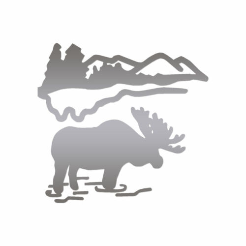 ebn460 Multiple Color /& Sizes Moose Mountain Vinyl Decal Sticker