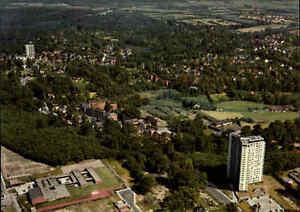 REINBEK Sachsenwald Luftaufnahme Luftbild Ansichtskarte ~1968 Postkarte color AK