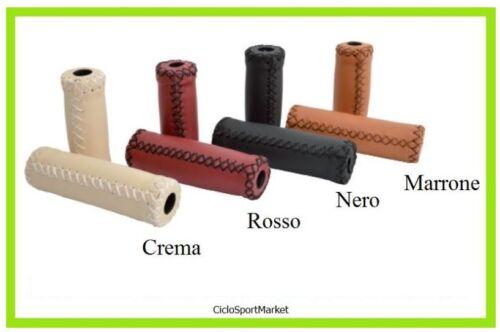 Coppia manopole colorate per bici bicicletta con o senza cambio in eco-pelle