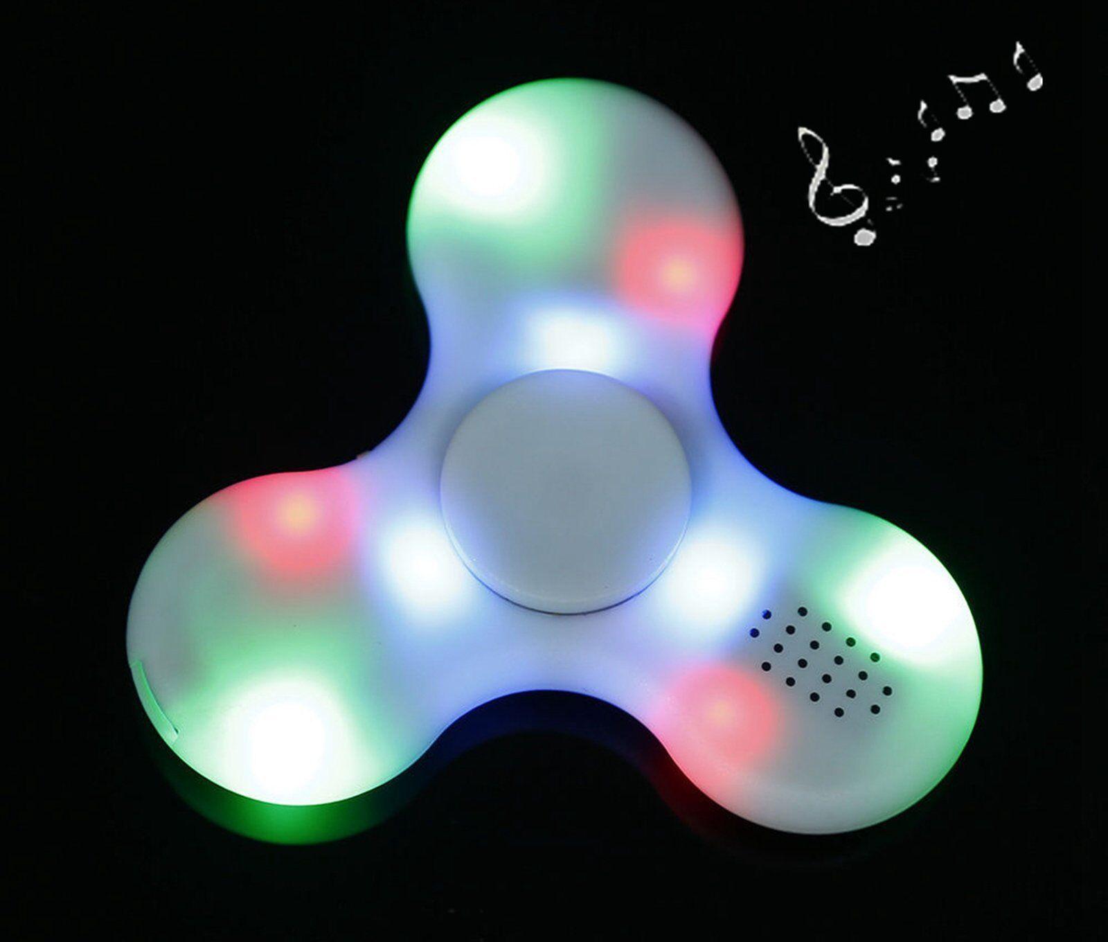 LED light Fidget tri Spinner Bluetooth Speaker EDC ADD ADHD For Adults
