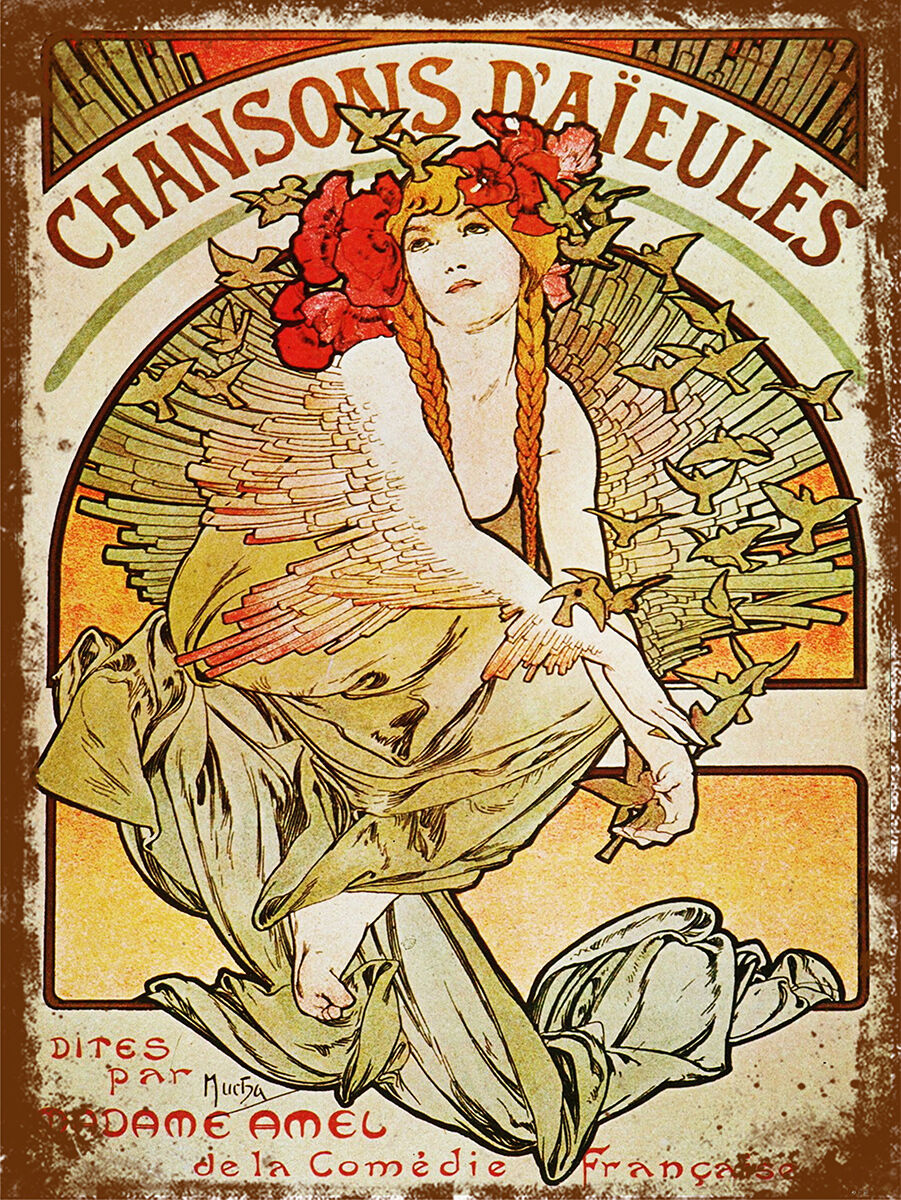 Vintage Retro Style French Poster Image Metal Tin Sign Art T