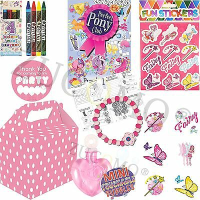 Fairy Stickers Girls Party Loot party  Bag Fillers party bags 6 pack