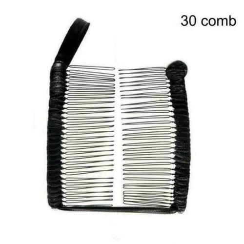 Vintage Banana Hair Clip Christmas Accessory Stretchable Comb Multipurpose