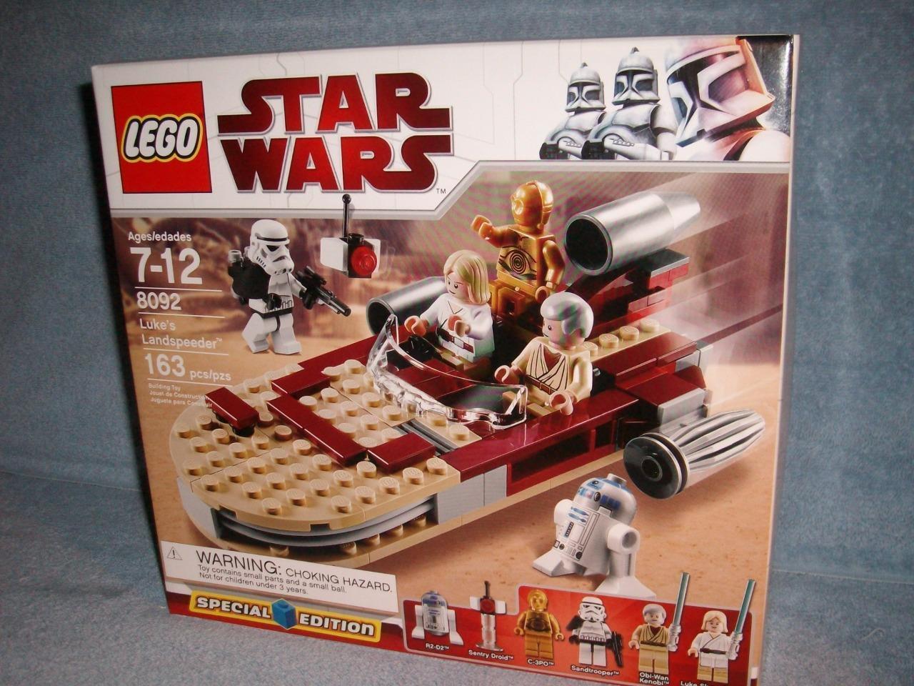 Luke's Landspeeder Special Edition Lego Star Wars 8092 163 pcs 2010 Minifigs New