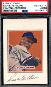 Richie Ashburn PSA DNA Coa Autograph 1989 Bowman 1949 Rookie Signed