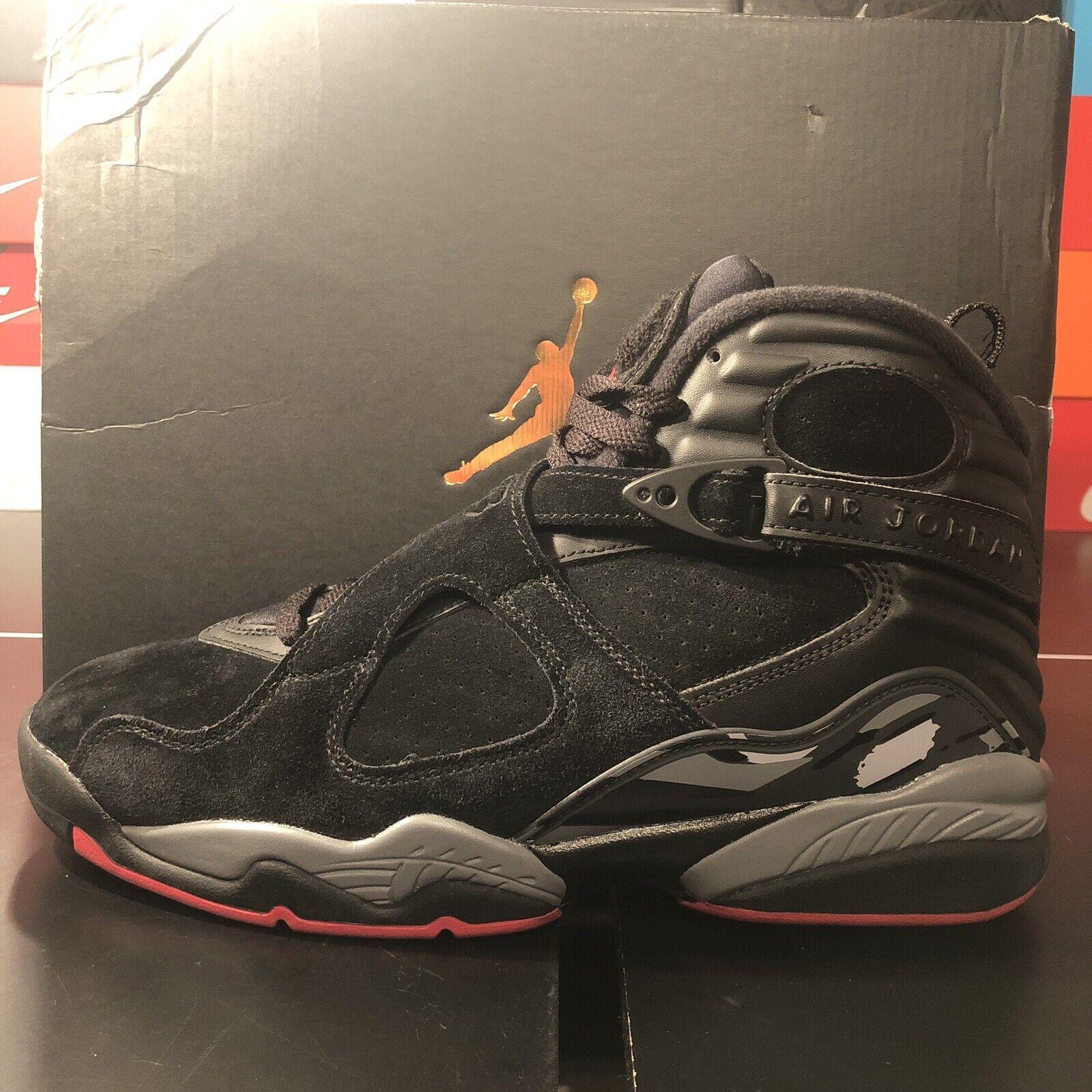Jordan 8 Retro  Cement Air  negro GYM rojo 305381-022 {} para hombres