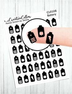 CL-0108-Battery-Planner-Stickers-48-Battery-Stickers-Stickers-Transparent