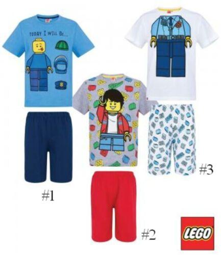 NUOVA COLLEZIONE Età 4-10 UFFICIALE Ragazzi LEGO Pigiama Manica Corta T-Shirt /& Pantaloncini