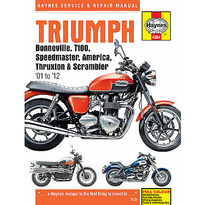 HAYNES 4364 MOTORCYCLE REPAIR OWNER MANUAL TRIUMPH BONNEVILLE 2001 - 2007