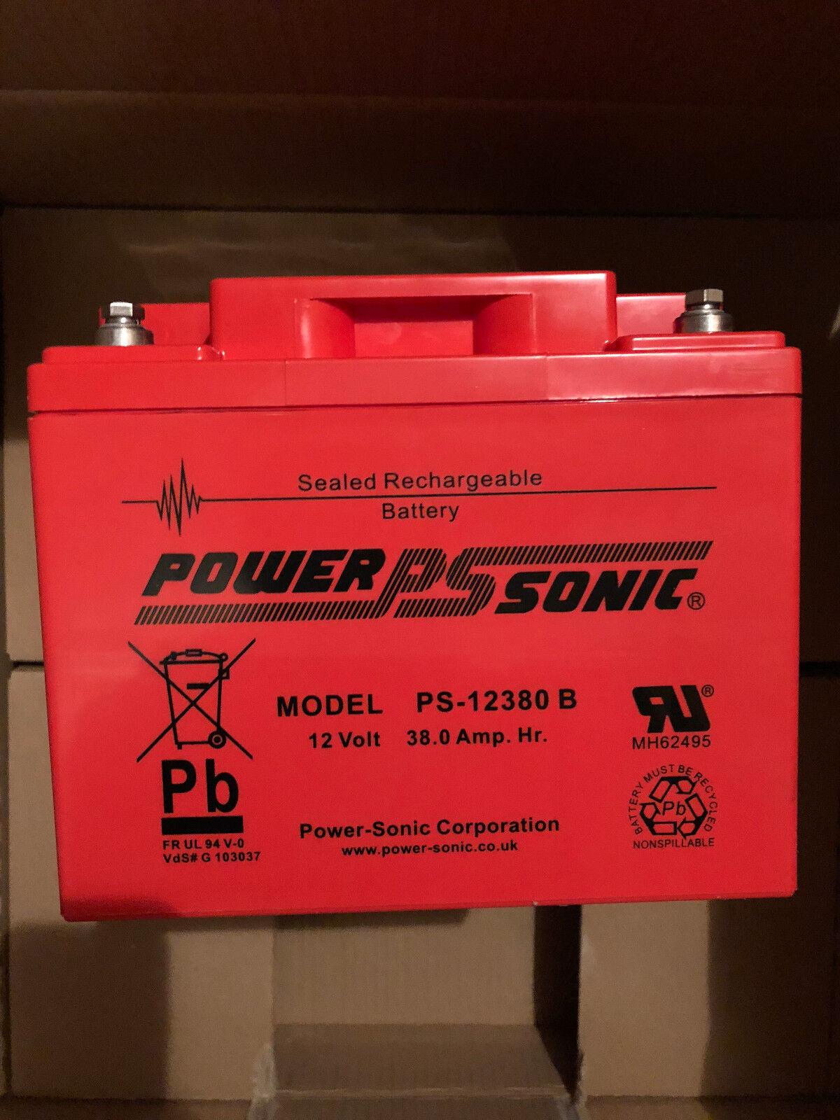 Bleiakku - Powersonic PS 12380 mit VdS Zulassung - 12V 38,0Ah - Rechargeable