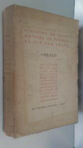Histoire Di st-Antoine Di Padova A.Del Lys 16 Stampe Spilla 1937 ABE