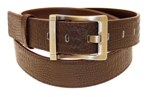 All Sizes Mens Genuine Brown Leather Belt In Gift Box