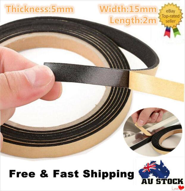 8M Adhesive Foam Weather Waterproof Draught Excluder Door Seal Strip Tape Roll