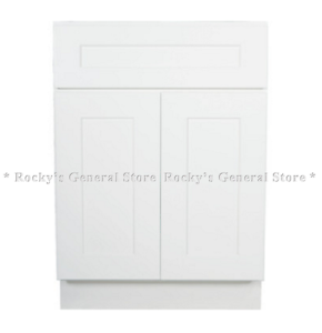 Image Is Loading White Shaker Bathroom Vanity Base Cabinet 24 034